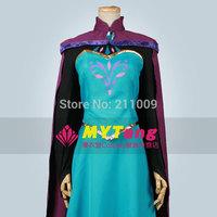 Frozen cosplay adult costume snow queen Elsa's Coronation Dress