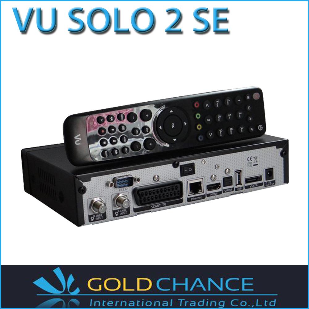 2 PC/LOT New Arrival ! Vu Solo2 SE Twin Tuner Vu Solo 2 SE Linux Reciever 1300 MHz CPU Digital Satellite TV Recever(China (Mainland))