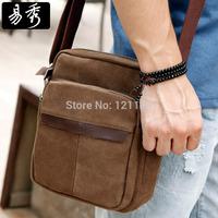 New arrival Eshow Brand men messenger bags brown vintage canvas bag shoulder bags BFK010481