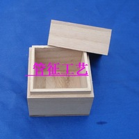 3pcs/lot Small Wooden High Quality Bracelet Box With Cover Gift Stamp Package Box Jewelry Soap Daily Storage Box 6*6*7cm