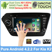 Kia k2 RIO 8 inch 100% Pure Android 4.2 Car dvd gps navigation 2010 2011 2012 Capacitive Screen radio RDS TV BT Built-in Wifi