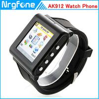 AK912 Watch Phone With Silicon Strap Single SIM Card Pinhole Camera FM Bluetooth 1.6 Inch Touch Screen Watch Phone update AK812