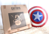 Free shipping by EMS 2014 Hot sales! ABS Captain America Shield Baking paint for metal 1:1 &Super heros Cosplay