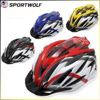 2014 New Brand Sportwolf Bicycle Accessories Mens Bike Helmet Multi Colors In-Mold Cycling Helmet Road Super Light 256G BT320