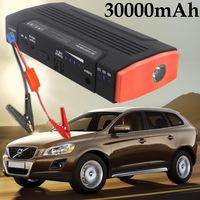 30000mAh Rare Earth Battery Car Emergency Power Supply Portable Mini Jump Starter Laptop Smart-phone Power Bank Free Shipping