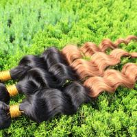 Cheap Ombre Hair Extensions Loose Wave Hair Brazilian Virgin Hair Ombre #1b/30 Two Tone Color Mixed Length Ombre Brazilian Hair