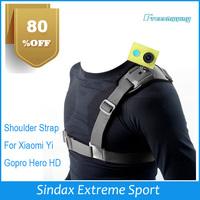 Promotion !!! Shoulder Strap Single Shoulder Strap Mount Chest Harness Belt Adapter For GoPro HD Hero 3 accessories Camera