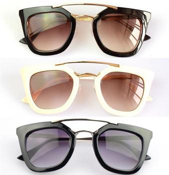 Gianna Jun Black Classic Big Square Frame Cat Eye Glasses 2014 Vintage Fashion Summer ...