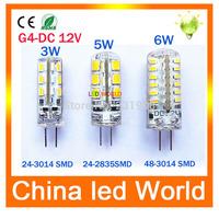 10pcs/lot led G4 3014 SMD 3W 5W 6W DC 12V G4 LED Lamp 20W halogen lamp g4 led 12v LED Bulb lamps warranty 2Y Lighting Spotlight