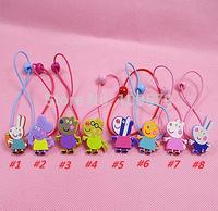 in stock Free shipping 20PCS/LOT=10pair Peppa pig friend Hairpin Clip Hair Ornament BB Clamp Clip Baby Hair Clip+Hair band