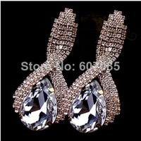 Fashion fashion super large crystal quality big drop earrings