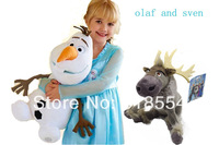 2014  Frozen olaf  30cm and 20cm sven  frozen toys olaf and sven doll Plush Toys  PP Cotton Stuffed frozen Dolls Free shipping