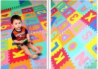 10 Pcs/lot Baby Play Puzzle Mats Have Digital Flower Pattern Tapete Educativo Bebe Green Breathable Slip Child Carpet