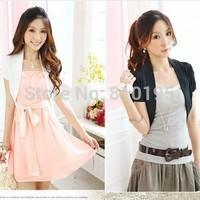 2014 women lady Summer short sleeve cropped cardigans for dresses bolero sweater shrug