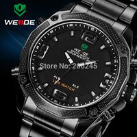 Luxury Brand Men Business Watch Fashion LED Display Full Steel Watches Male Dress Quartz Wristwatch Military Watches