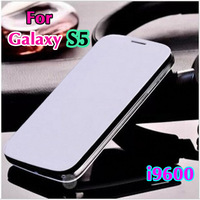 For Samsung Galaxy S5 S 5 SV I9600 9600 Original Flip Leather Back Cover Cases Battery Housing Case Holster + Screen Protector