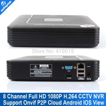 8-канальный видеонаблюдения NVR смарт мини 1U сетевой видеорегистратор HDMI / VGA ...