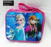 Frozen  Kids Cartoon Lunch Box Set Nylon Cartoon Lunch bag /Frozen  lunch bag