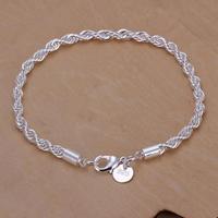 H207 Free Shipping Wholesale 925 silver bracelet, 925 silver fashion jewelry Twisted Line Bracelet /breakilasz