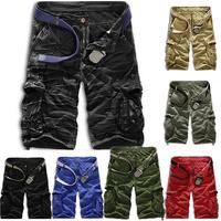 Men's Casual Shorts Masculina 2014 Summer Multi-Pocket Camouflage Running Cargo Man Fashion Military Short Pants T487