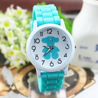 New Arrive Classic brand watch Silver bear dress watches for Women silicone jelly watch quartz wristwatch