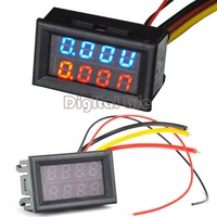 2014 New Red Blue LED DC 0-100V 10A Dual display Meter Digital Voltmeter Ammeter Panel Amp Volt Gauge  #7 TK1211