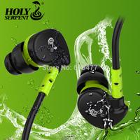 HOLY SERPENT V7 Mobile phone hifi headphones ear wire sports running mp3 waterproof earphones Bass headphones