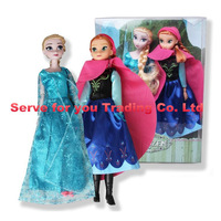 5box/lot With original packing 12 Joint Moveable Frozen Princess11.5 Inch Frozen Doll Elsa Anna Good Girl Gifts free shipping