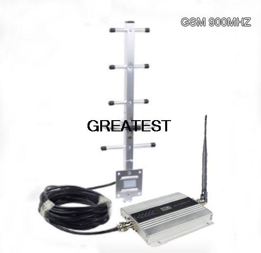 NEW LCD Repeater/GSM 900MHz GSM Signa Booster/Repeater/Amplifier Directional YaGi Antenna Kit free postage(China (Mainland))
