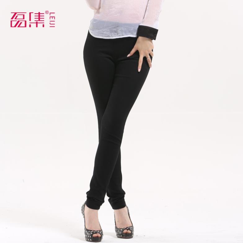 De la mujer de moda los pantalones 2014 12 nuevos colores de color caramelo pantalones skinny pantalones de algodón en forma de lápiz s-6xl pantalones más el tamaño de los pantalones vaqueros de las mujeres