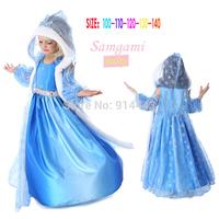 Retail+New  dresses for children clothes, anna elsa princess dresses, kids girls party dress,vestido de festa infantil