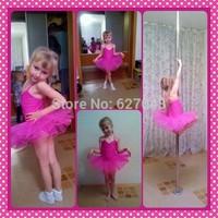 Rose Gauze Green Girl Dancing Cloth Children Ballet Dress Kids Gown Tutu Dance Dresses Baby Party Petticoats Ball Girl's Gift