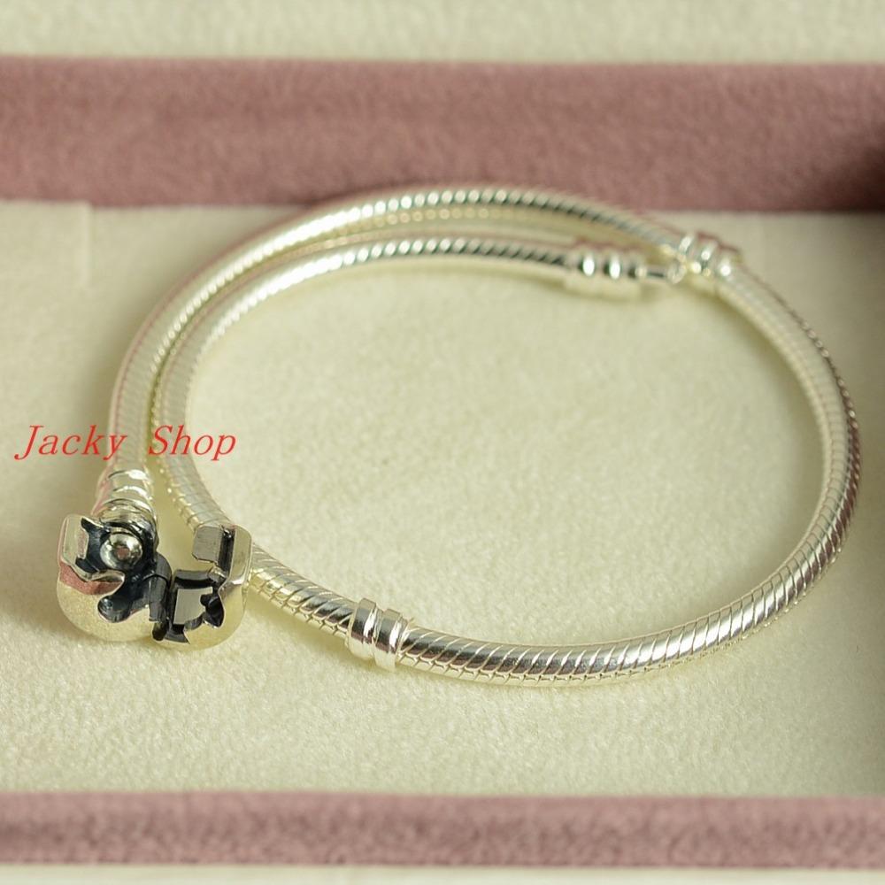 Аутентичные стерлингового серебра змея браслет / браслет приспособленный шариками шарма / 100% серебро