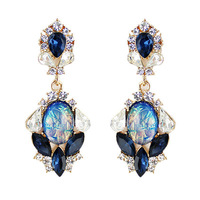 Vintage Style Colorful Rhinestone Simulated Diamond Drop Earrings Fashion Jewelry 2014 Brincos  For Women