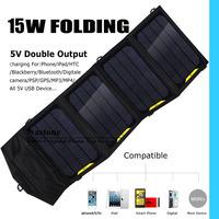 Solar charger Hi- power 15W portable floding solar charger Duoble 5V usb port  mobilephone