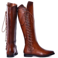 2014 Brand newest Leather Knee high boots winter boots women ladies'shoes sexy Motorcycle boots for women sapatos femininos