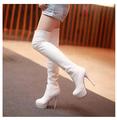 Tassel Knee-Length Boots 40-43 Plus Size 2015 Women's Boots Winter