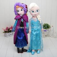2pcs/lot  Doll Plush Toys New 50cm Princess Elsa Anna Plush Doll Brinquedos Kids Dolls