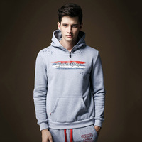 Mans hooded fleece Sweatshirts New 2014 pullovers Leisure men's clothing Fashion coat Pure color Hoodies Dropshipping