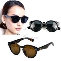 2014 New Arrival Fashion Summer Unisex Vintage Sunglasses Inspired Bold Circle Round Rivet Pattern Sunglasses Key-Hole B16 5634