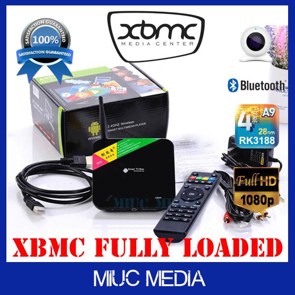 CS968 rk3188 quad core android tv box webcam mk809 VOIP skype webcam tv box 2gb ram hd 1080p xbmc droid tv box xbmc media player(China (Mainland))