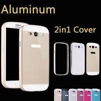 Luxury Ultrathin Aviation Aluminum Ultra Thin Metal Bumper Case No Screws 0.7mm Frame Cover For Samsung Galaxy S3 i9300