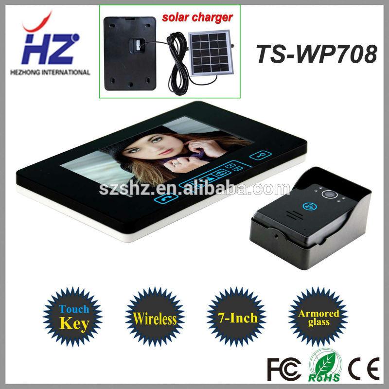 """Die beste signal Luxus touch-taste 2,4 GHz Wireless video-türsprechanlage gegensprechanlage türklingel entriegelung kamera mit 7"""" tft-lcd-monitor"""