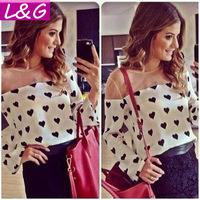 New 2014 Fashion Women Blouses Casual Tulle Chiffon Blouse Spring Summer Blusas Femininas Shirt Tops Cheap Clothes China 40090