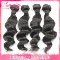 Rosa Brazillian Loose Wave Hair 4pcs Lot Cheap 100 grams Ms Lula Brazillian Hair Weaves Bundles Loose Wave 5A Luvin Hair