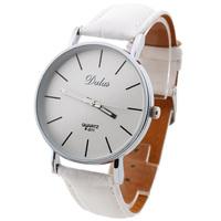 New Fashion Classic Women Lady Leather Band Analog Quartz Wrist Watch White