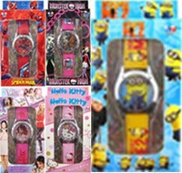 Wholesale 7style spiderman, despicable me, violetta,Avengers ... 10pcs/lot kids Watch with boxes Christmas gift