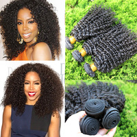 6A Malaysian Curly Hair 3PC Lot,100% Unprocessed Human Hair Weaves Malaysian Kinky Curly  Virgin Hair Extensions Free Shipping
