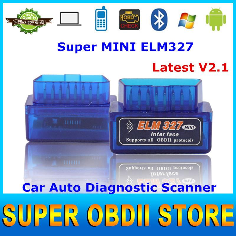 2014 Latest Version Super Mini ELM 327 Bluetooth V2.1 OBD2 Wireless Scanner ELM327 OBD 2 Car Diagnostic Interface(China (Mainland))