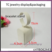 FREE SHIPPING!Wholesale 10pcs  Beige Suede Velvet Jewelry Display Bracelet Anklet Watch Display Holder Chain Holder Chain Stand